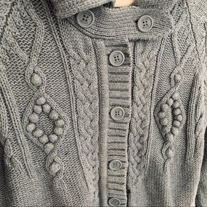 Knitted Button-Up Sweater